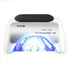 48W LED UV Professional Nail Lampada smalto Gel Gelish Shellac IBD ETC BIANCO