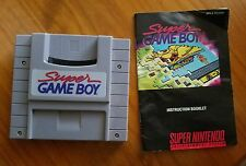 Super GameBoy (Super Nintendo Entertainment System, 1994) WORKS WITH MANUAL!!!