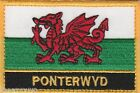 Ponterwyd Wales Cymru Town & City Embroidered Sew on Patch Badge