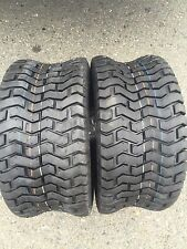 Two New 20x8.00-8 Deestone D265 Turf Riding Lawn Mower Garden Tractor Tires