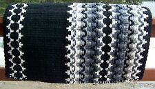 Corona Show Blanket - 38x34 (Black Base/Grey and Cream Accents) by Mayatex