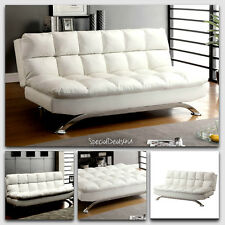 Sofa Bed Sleeper Split Back Couch Home Furniture Room Office Modern Leather New