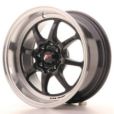Cerchio in Lega Japan Racing TF2 15x7,5 ET30 4x100/108 Nero Lucido