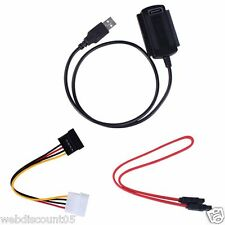 SATA/PATA/IDE Drive to USB 2.0 Adapter Converter Cable for 2.5/3.5 Hard Drive UK