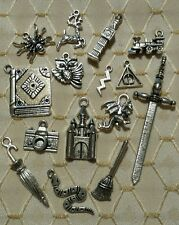 15 pc Harry Potter Inspired Charm Pendant Lot Set Collection Tibetan Silver