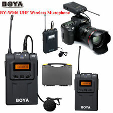 BOYA BY-WM6 Pro UHF Wireless Microphone System Lavalier for ENG EFP DSLR Ca