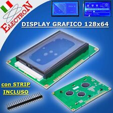 Display grafico 12864  128x64 – LCD  RETROILLUMINATO BLU GRAPHIC - ARDUINO – PIC