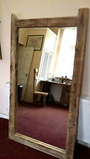 Rustic Driftwood Full Length Reclaimed wooden framed Mirror Salon