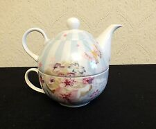 CAVANIA BY LEONARDO BUTTERFLY BOUTIQUE TEA FOR ONE TEAPOT AND CUP SET