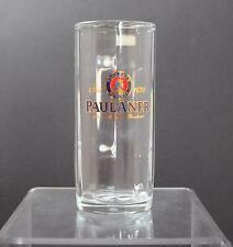 "Vintage Clear Glass Germany Paulaner Paneled Collectible Mug About 7 1/2"" W3"