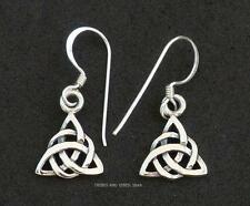 Celtic Knot Earrings Double Triquetra Infinity 925 Sterling Silver Jewellery