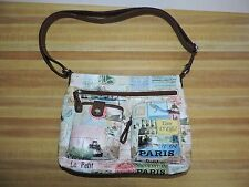 RELIC Hand Bag Paris Scenes Eiffel Tower Cell Pouch Zippers