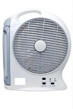 Rechargeable Ac/Dc 2 Speed Fan With 2 Tube Emergency Light