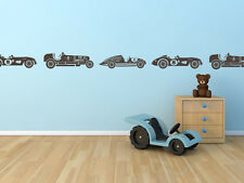 Vintage Race Cars for Boys Border or Childs Room Vinyl Wall Decal for Home Decor