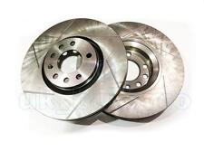GROOVED Performance FRONT Brake Discs OPEL ASTRA G Coupe 2.0 16V Turbo 2001-05