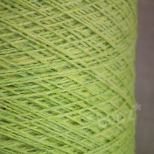 PURE MERINO WOOL 2 3 PLY 500g CONE 10 BALLS KIWI GREEN YARN MACHINE KNIT BRITISH