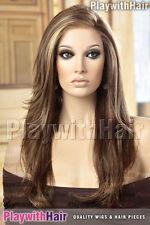 Sexy LONG Silky Lace Front Wig Ashy Brown Blonde Mono Top : Jon Renau - Zara