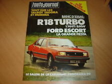 AJ N°17 1980 R18 Turbo.Ford Escort.Guide de l'acheteur