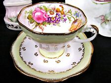 FOLEY TEA CUP AND SAUCER FLORAL ROSE TULIP TEACUP FLARED PATTERN