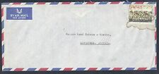 1960's Dubai Air Mail Cover - Scott #C11 Rouletted - Dubai to Austria