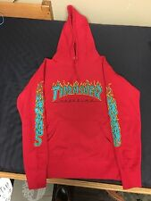 Supreme X Thrasher Magazine Hooded Sweatshirt Red Size Small Hoodie Box Logo Tee