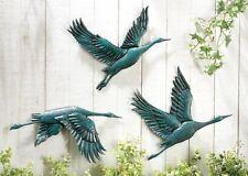 Metal Flying Bird Art Wall Decor Sculptures Animal Hanging Home Outdoor Set of 3