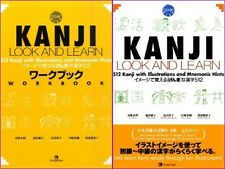 Japanese KANJI LOOK AND LEARN Work and Text Set Japan Times F/S Track#