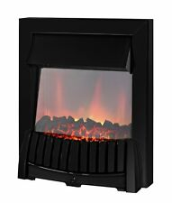 ELECTRIC 2KW BLACK SURROUND MODERN FLAME INSET FIREPLACE INSERT COAL FIRE LED
