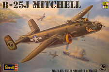 REVELL 1:48 SCALE WWII B-25J MITCHELL TWIN ENGINE BOMBER PLASTIC MODEL KIT
