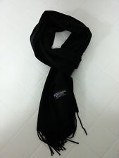 NEW Unisex 100% CASHMERE SCARF Super Soft and Warm Solid Black