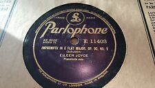 EILEEN JOYCE SCHUBERT IMPROMPTU IN E FLAT MAJOR OP90 NO 2 PARLOPHONE E11403
