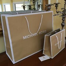 Michael Kors Empty Paper Shopping Retail Gift Bag 19x15x7 New Free Ship Large