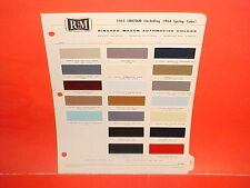 1965 LINCOLN CONTINENTAL CONVERTIBLE SEDAN FORD THUNDERBIRD T-BIRD PAINT CHIPS