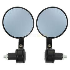 Pair Universal Motorcycle Moped Conversion Rearview Side Round Handlebar Mirrors