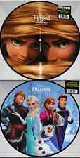 2x DISNEY OST PICTURE DISC VINYL Lot TANGLED & FROZEN Limited Edition New