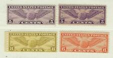 USA 1930/34 Air Mail MNH/OG Scott C12/C19- Nuovi gomma integra Unificato A18/A19