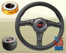 Carbon Type Racing Steering Wheel+Silver Release+Hub for 84-87 Toyota AE86