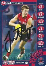 Signed 2013 MELBOURNE DEMONS AFL Card JACK TRENGOVE