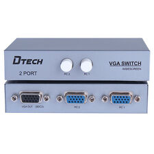 2 Port VGA SVGA Monitor Switch Box Video Switcher Selector,2 PC In 1 Monitor Out