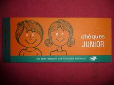 vintage carnet de chèques JUNIOR 1970 , colonies de vacances chèque postaux  PTT
