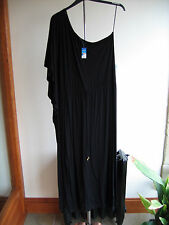 Ladies Black Leisure Dress Grecian Style One Sleeve Size XL Holiday Shop