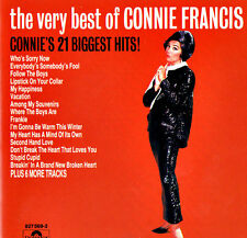 CONNIE FRANCIS - THE VERY BEST OF - 21 BIGGEST HITS - Original CD ©