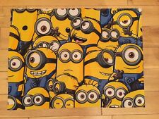 DESPICABLE ME/MINION FABRIC FQ-45cmX65cm–POLYCOTTON MATERIAL-CARTOON-YELLOW-BLUE