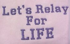 Let's Relay for Life Purple Breast Cancer Pink Crew Sweatshirt Unisex Small New