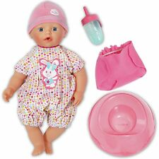 "My Little BABYBorn 13"" Doll Bathing Fun And Potty Romper Hat Nappy Bottle Boxed"