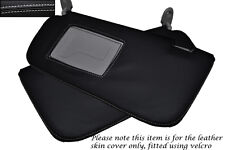 WHITE STITCHING FITS HYUNDAI GETZ 2008-2011 2X SUN VISORS LEATHER COVERS ONLY