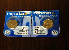 FREE SHIPPING TWO 2 Renata 371 SR920 Watch Battery USA Authorized Seller