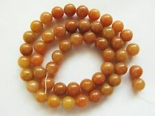 "Red aventurine 8mm round beads 15"" orange brown"