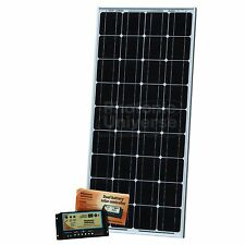 100W dual battery solar kit for camper boat 10A dual battery controller 5m cable