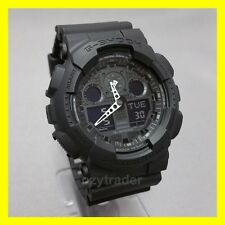 New Casio G-Shock GA-100-1A1 Black Combi 200m Water Resistant Chronograph Watch